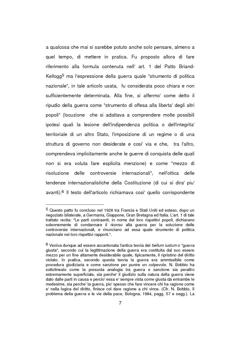 Anteprima della tesi: Aspetti problematici della normativa costituzionale sullo stato di guerra, Pagina 7