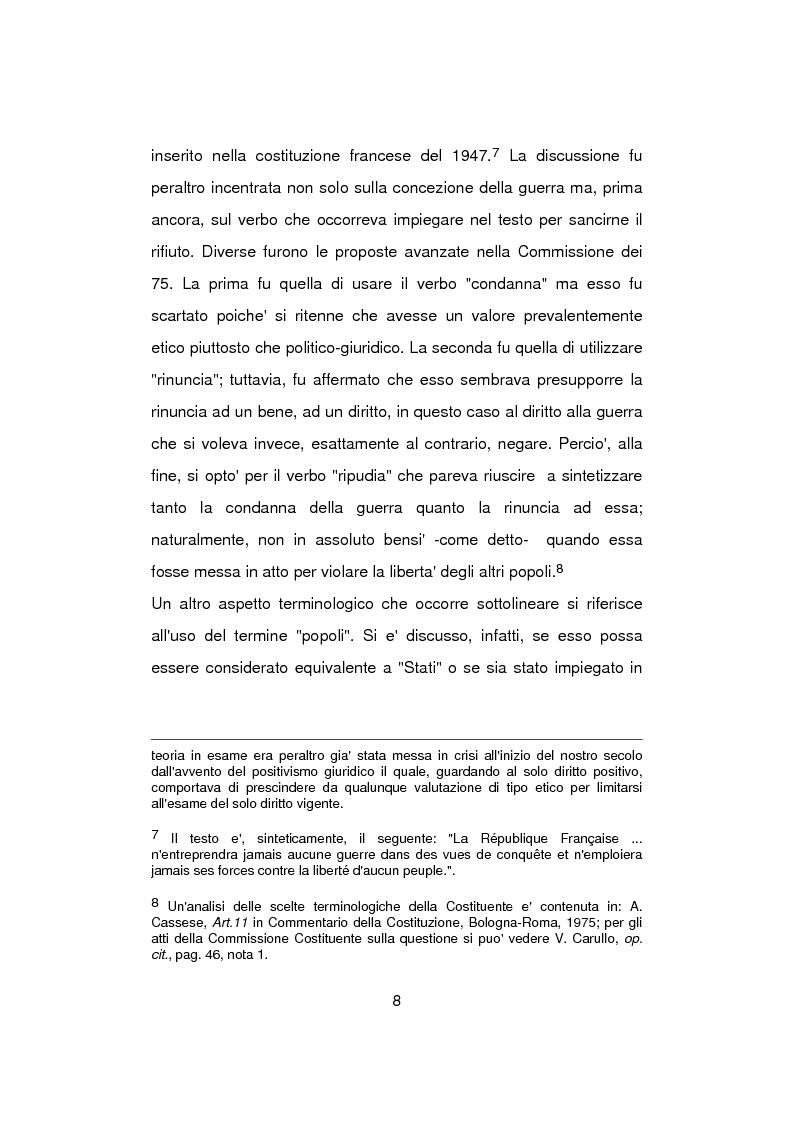 Anteprima della tesi: Aspetti problematici della normativa costituzionale sullo stato di guerra, Pagina 8