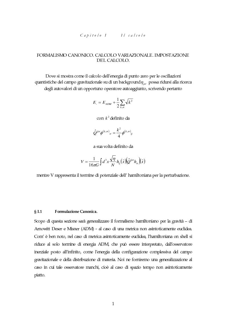Anteprima della tesi: Oscillazioni quantistiche su background di shwarzschild con costante cosmologica, Pagina 1