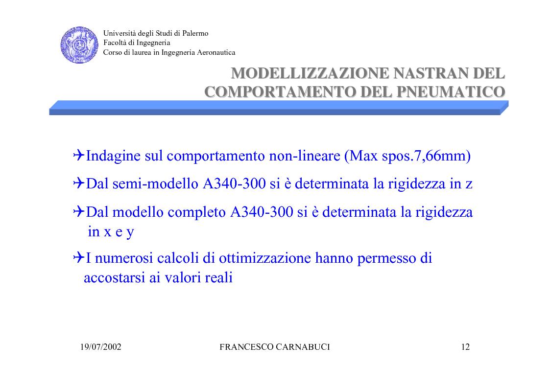 Anteprima della tesi: Modellizzazione Numerica e Verifica Sperimentale della Sospensione Pneumatica per Prove di Vibrazione al Suolo di un Grande Liner, Pagina 12