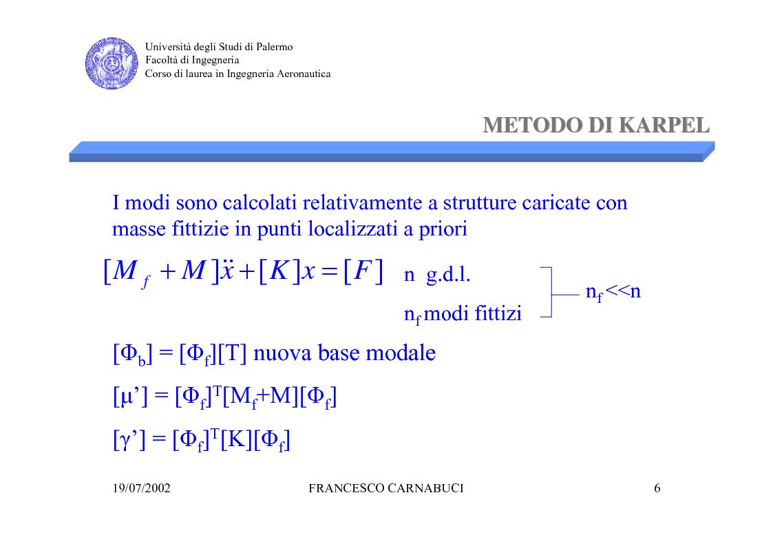 Anteprima della tesi: Modellizzazione Numerica e Verifica Sperimentale della Sospensione Pneumatica per Prove di Vibrazione al Suolo di un Grande Liner, Pagina 6