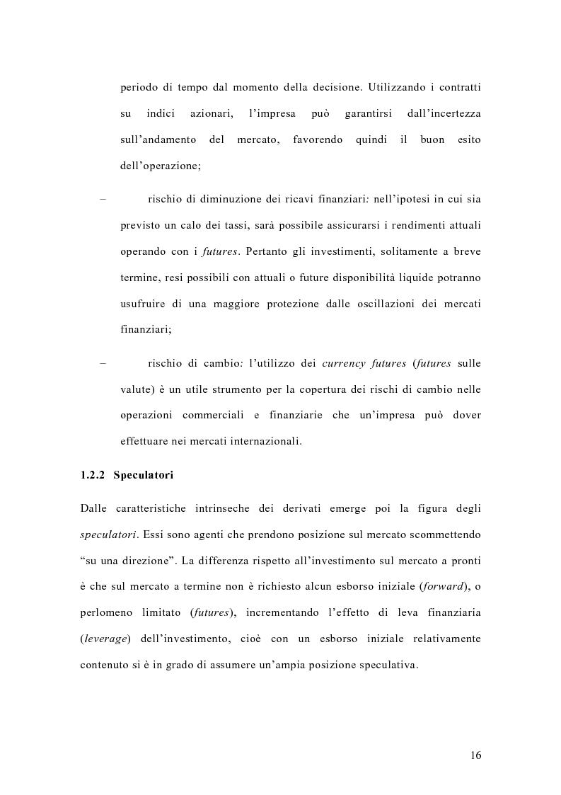 Anteprima della tesi: Il mercato italiano degli stock futures, Pagina 12