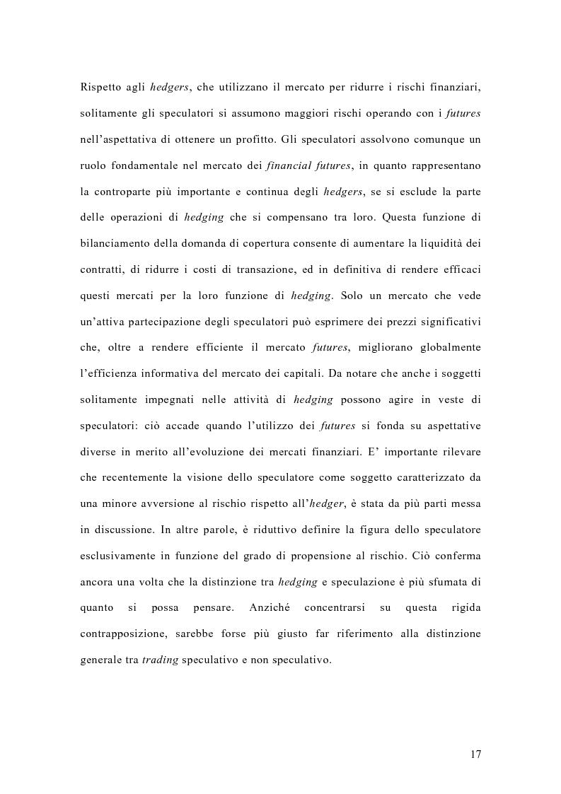 Anteprima della tesi: Il mercato italiano degli stock futures, Pagina 13