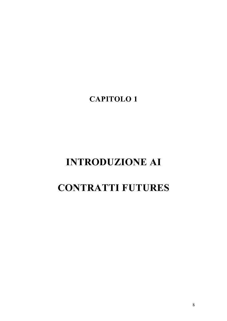 Anteprima della tesi: Il mercato italiano degli stock futures, Pagina 4