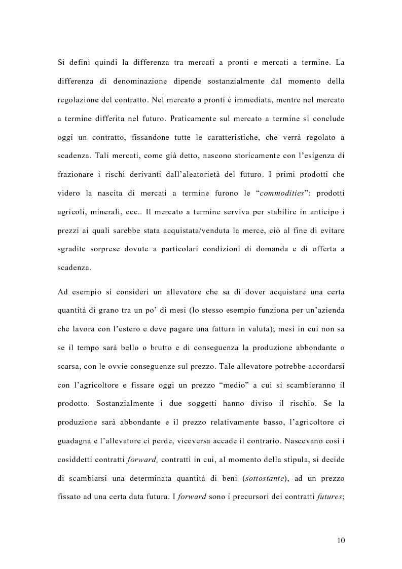 Anteprima della tesi: Il mercato italiano degli stock futures, Pagina 6