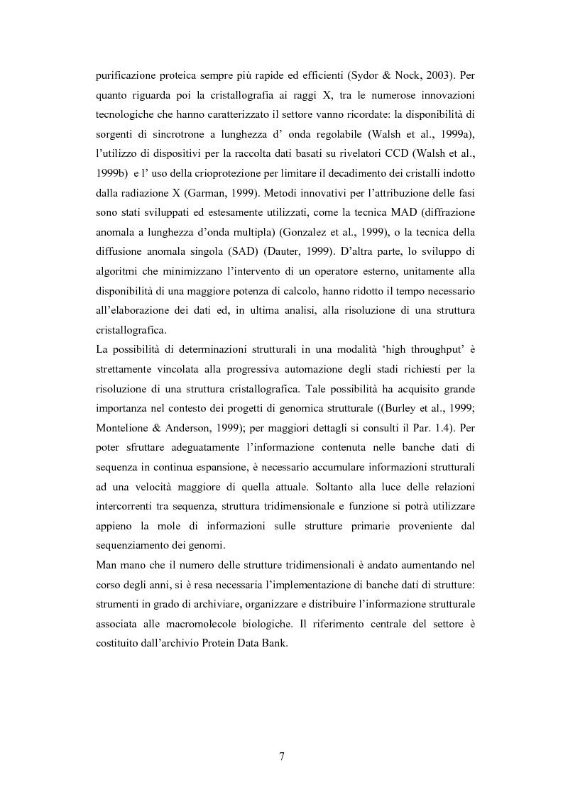 Anteprima della tesi: Analisi statistiche su banche dati di strutture di proteine, Pagina 2