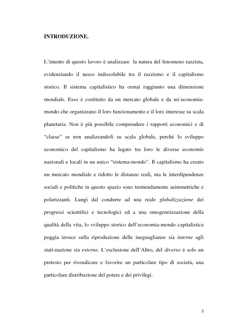 Anteprima della tesi: Il razzismo come pilastro istituzionale del capitalismo storico, Pagina 1