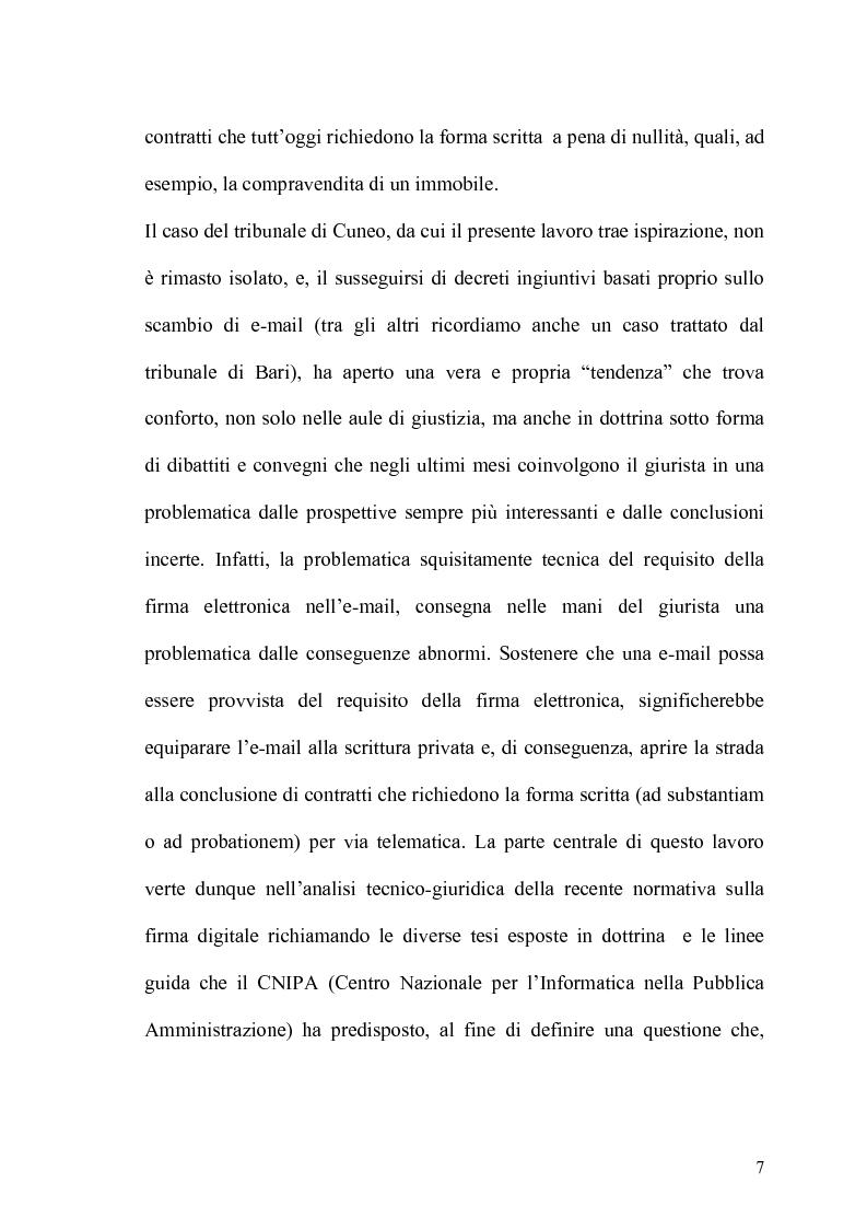 Anteprima della tesi: Documento informatico e scrittura privata, Pagina 5