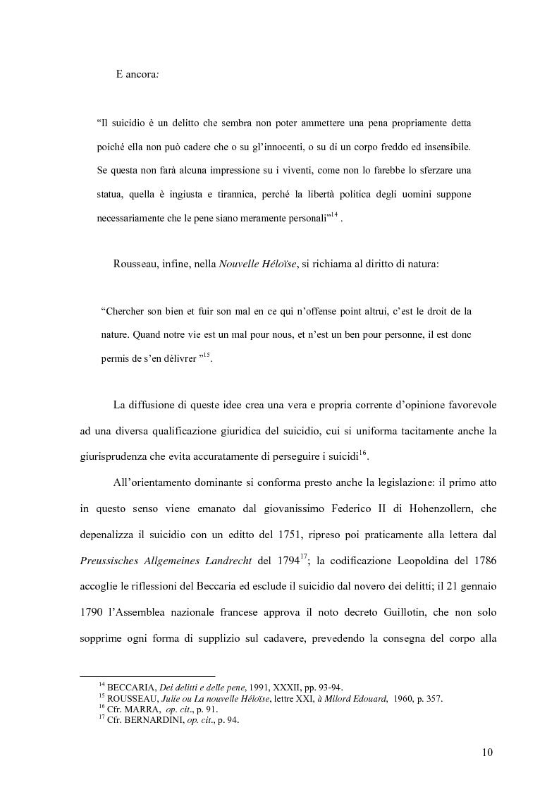 Anteprima della tesi: Il delitto di istigazione o aiuto al suicidio, Pagina 5