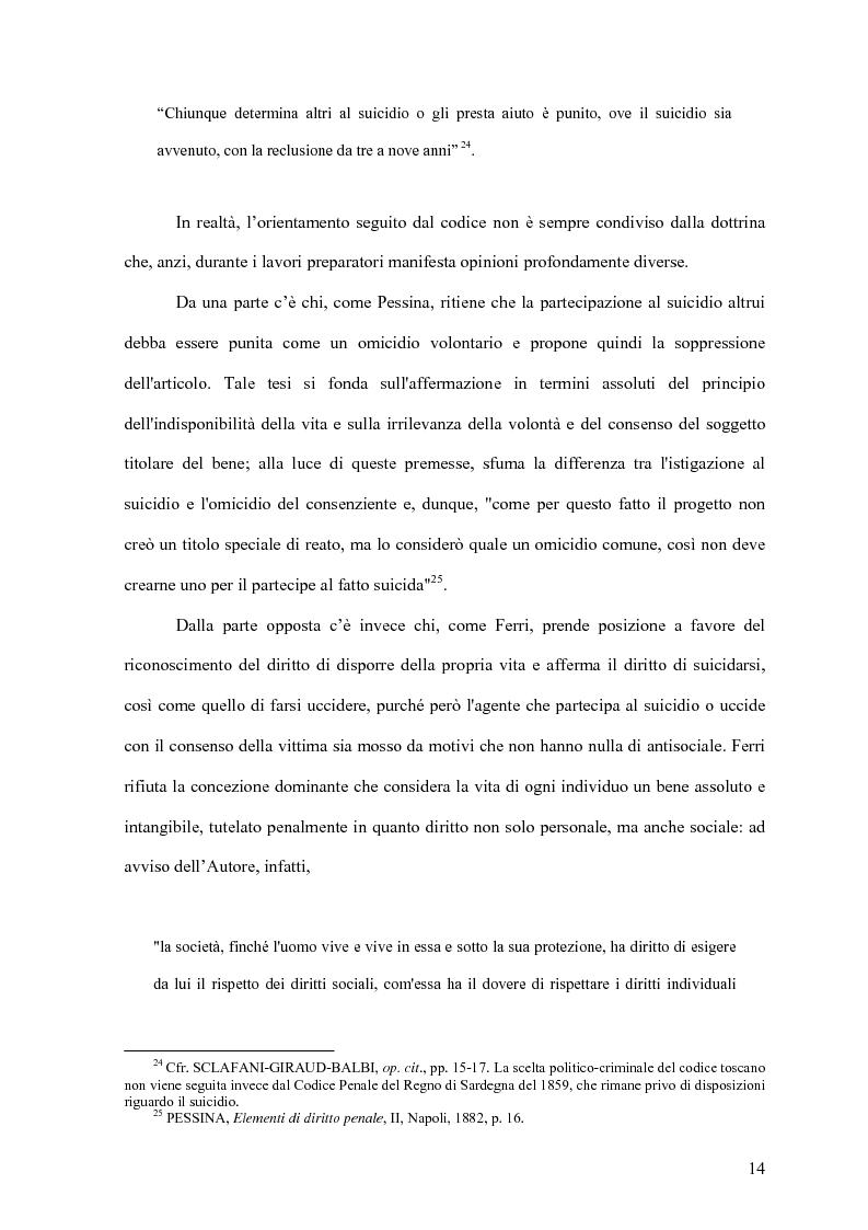 Anteprima della tesi: Il delitto di istigazione o aiuto al suicidio, Pagina 9