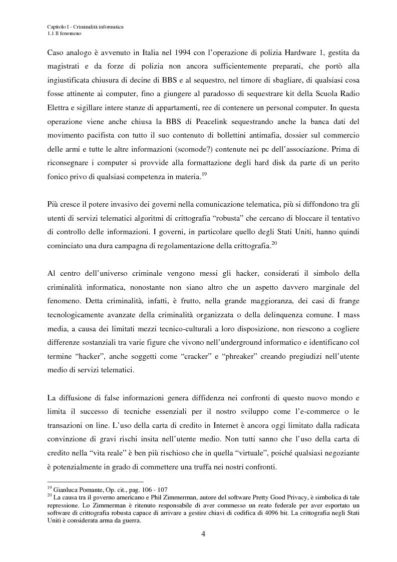 Anteprima della tesi: L'accesso abusivo ai sistemi informativi automatizzati, Pagina 7