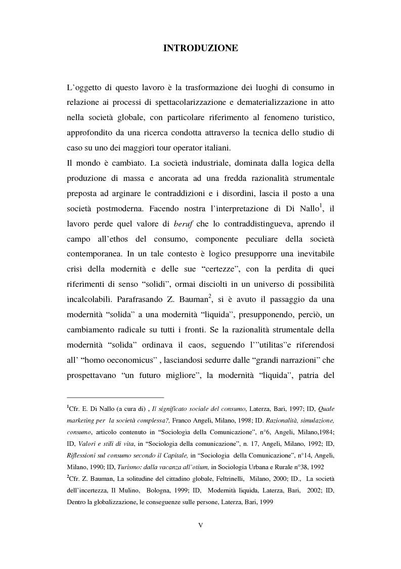 Anteprima della tesi: I luoghi di consumo nella società globale, Pagina 1