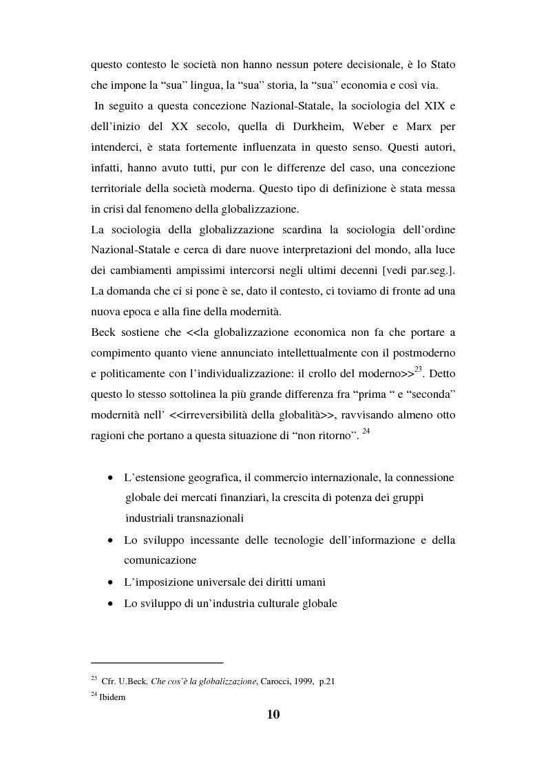 Anteprima della tesi: I luoghi di consumo nella società globale, Pagina 14