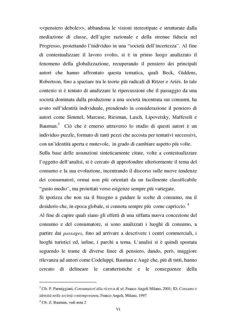 Anteprima della tesi: I luoghi di consumo nella società globale, Pagina 2