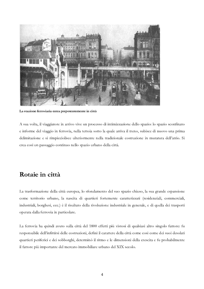 Anteprima della tesi: Infrastruttura e Territorio: analisi storica del rapporto tra ferrovia e spazio abitato, Pagina 4