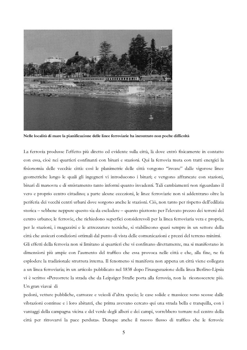 Anteprima della tesi: Infrastruttura e Territorio: analisi storica del rapporto tra ferrovia e spazio abitato, Pagina 5
