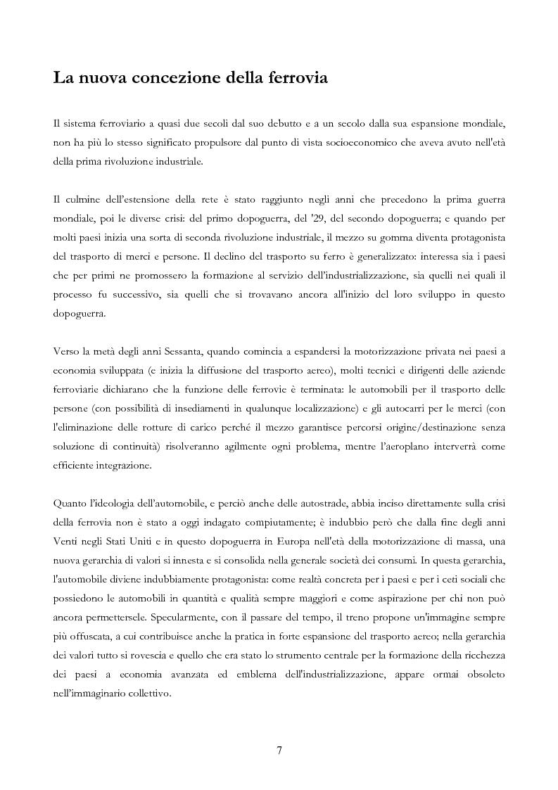Anteprima della tesi: Infrastruttura e Territorio: analisi storica del rapporto tra ferrovia e spazio abitato, Pagina 7