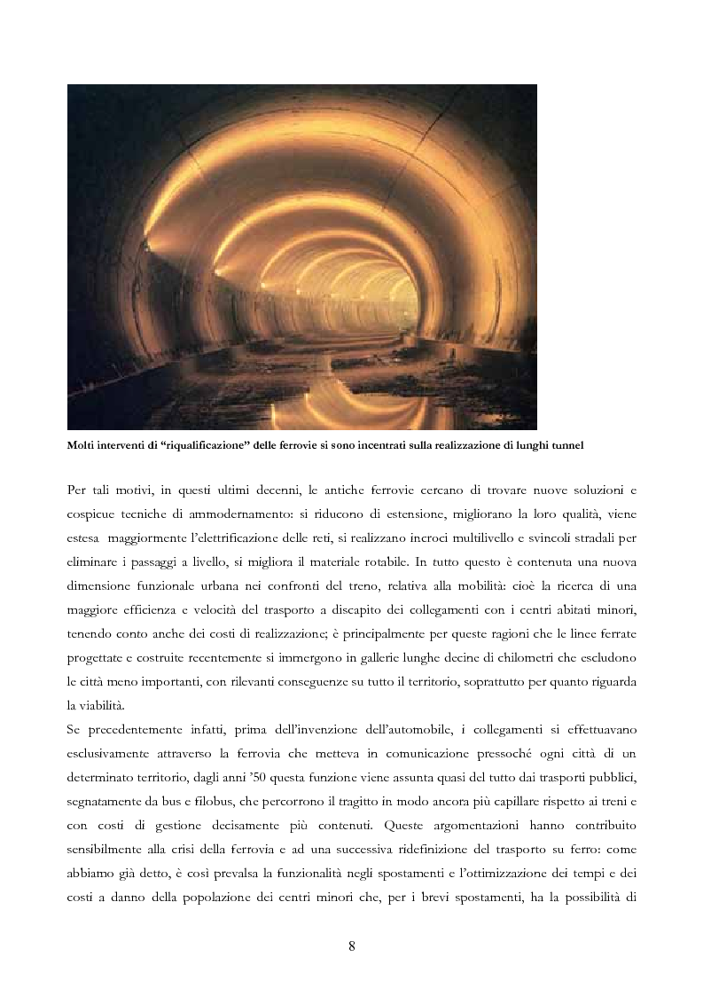 Anteprima della tesi: Infrastruttura e Territorio: analisi storica del rapporto tra ferrovia e spazio abitato, Pagina 8