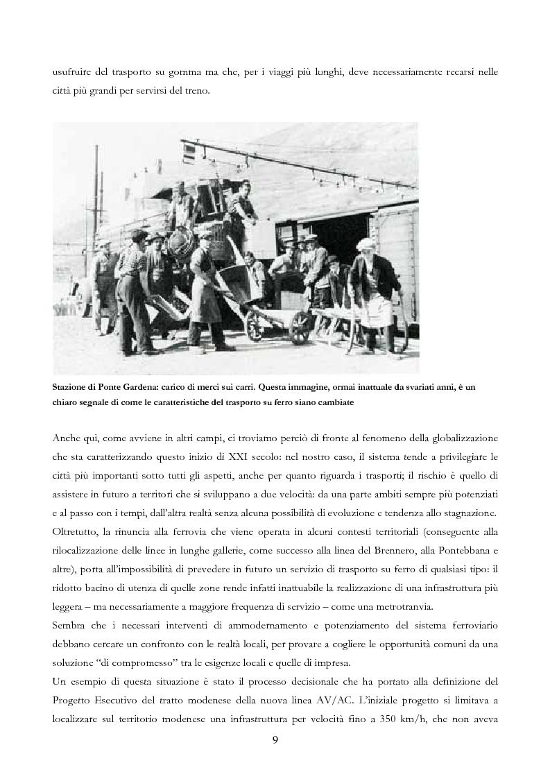Anteprima della tesi: Infrastruttura e Territorio: analisi storica del rapporto tra ferrovia e spazio abitato, Pagina 9