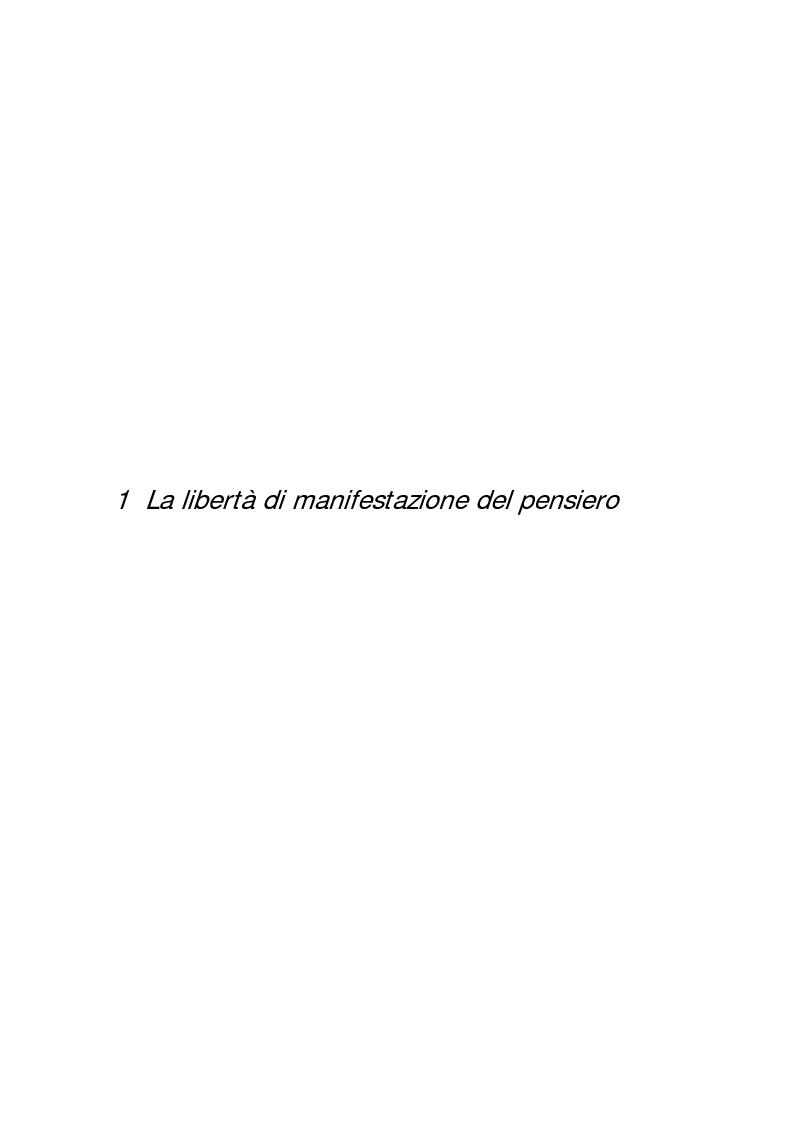 Anteprima della tesi: Diffamazione a mezzo stampa e diritto di cronaca, Pagina 2