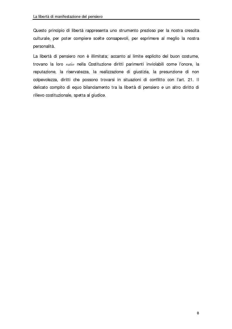 Anteprima della tesi: Diffamazione a mezzo stampa e diritto di cronaca, Pagina 5