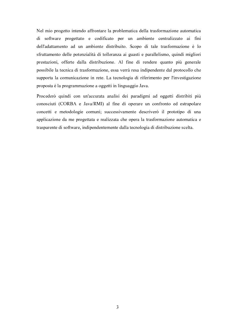 Anteprima della tesi: Trasformazione, indipendente dal protocollo ed automatica, di software centralizzato in distribuito, Pagina 2