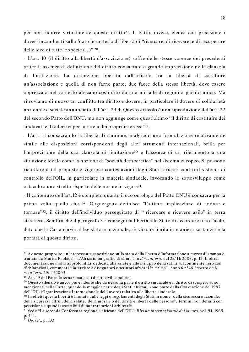 Anteprima della tesi: Per un modello africano di garanzie dei diritti dell'uomo - Lineamenti del recente sviluppo dei diritti umani in Africa Occidentale Subsahariana, Pagina 12