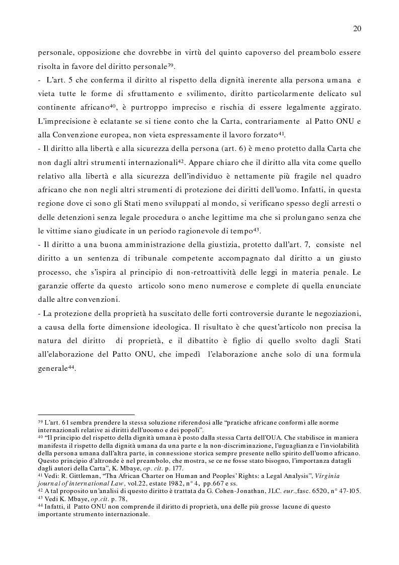 Anteprima della tesi: Per un modello africano di garanzie dei diritti dell'uomo - Lineamenti del recente sviluppo dei diritti umani in Africa Occidentale Subsahariana, Pagina 14