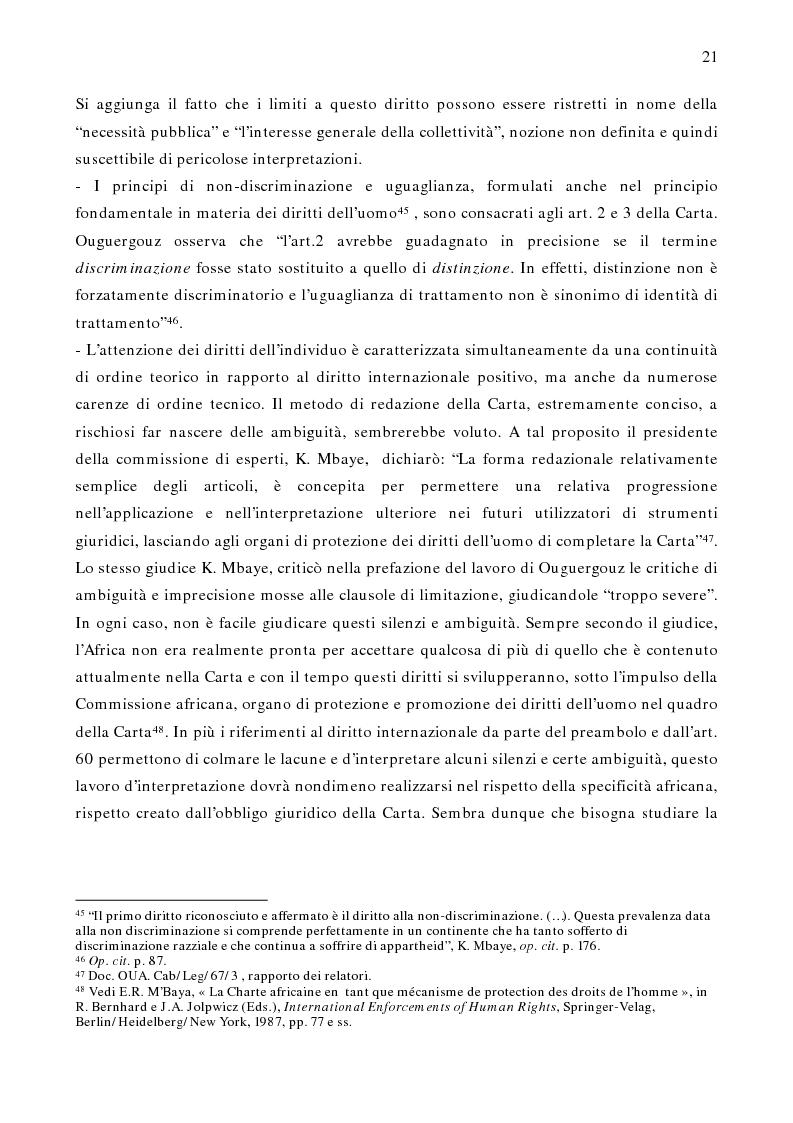 Anteprima della tesi: Per un modello africano di garanzie dei diritti dell'uomo - Lineamenti del recente sviluppo dei diritti umani in Africa Occidentale Subsahariana, Pagina 15