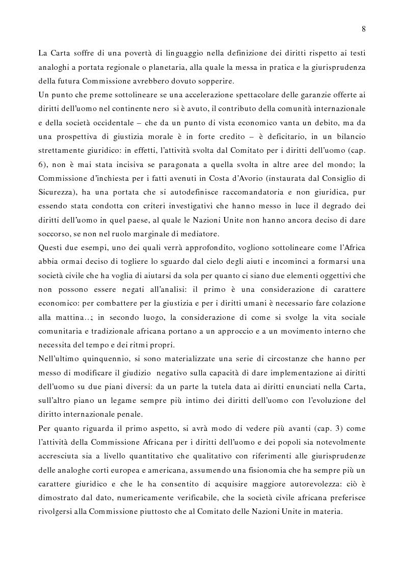 Anteprima della tesi: Per un modello africano di garanzie dei diritti dell'uomo - Lineamenti del recente sviluppo dei diritti umani in Africa Occidentale Subsahariana, Pagina 2