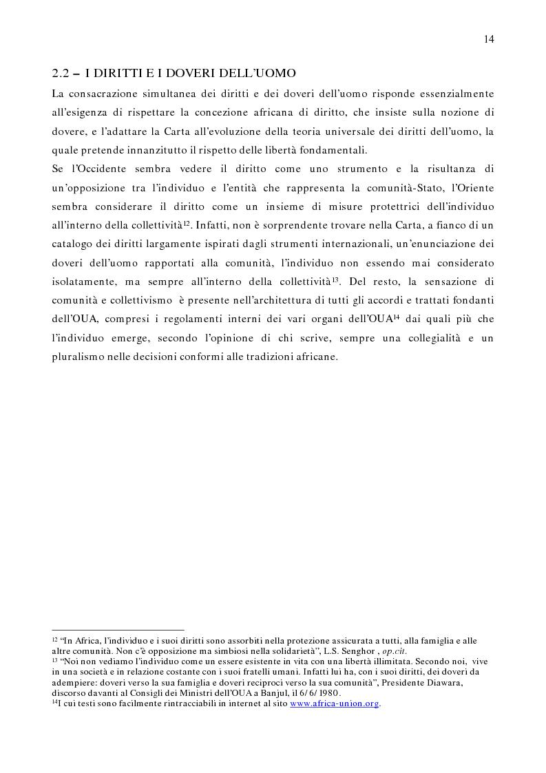 Anteprima della tesi: Per un modello africano di garanzie dei diritti dell'uomo - Lineamenti del recente sviluppo dei diritti umani in Africa Occidentale Subsahariana, Pagina 8