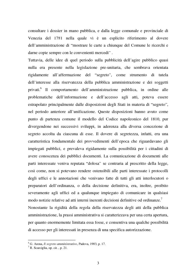 Anteprima della tesi: Il diritto di accesso ai documenti amministrativi, Pagina 3