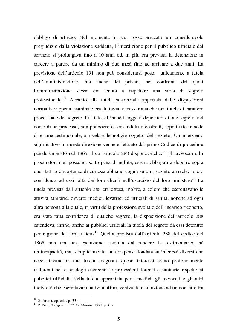 Anteprima della tesi: Il diritto di accesso ai documenti amministrativi, Pagina 5