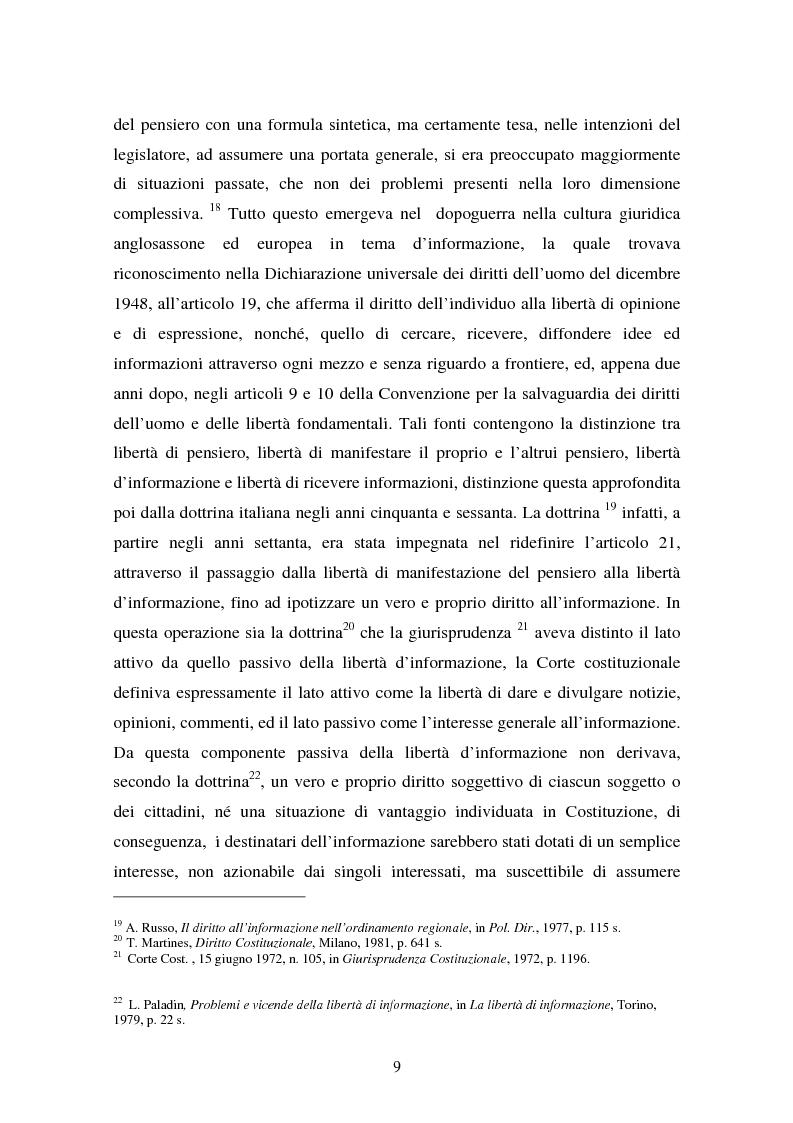 Anteprima della tesi: Il diritto di accesso ai documenti amministrativi, Pagina 9