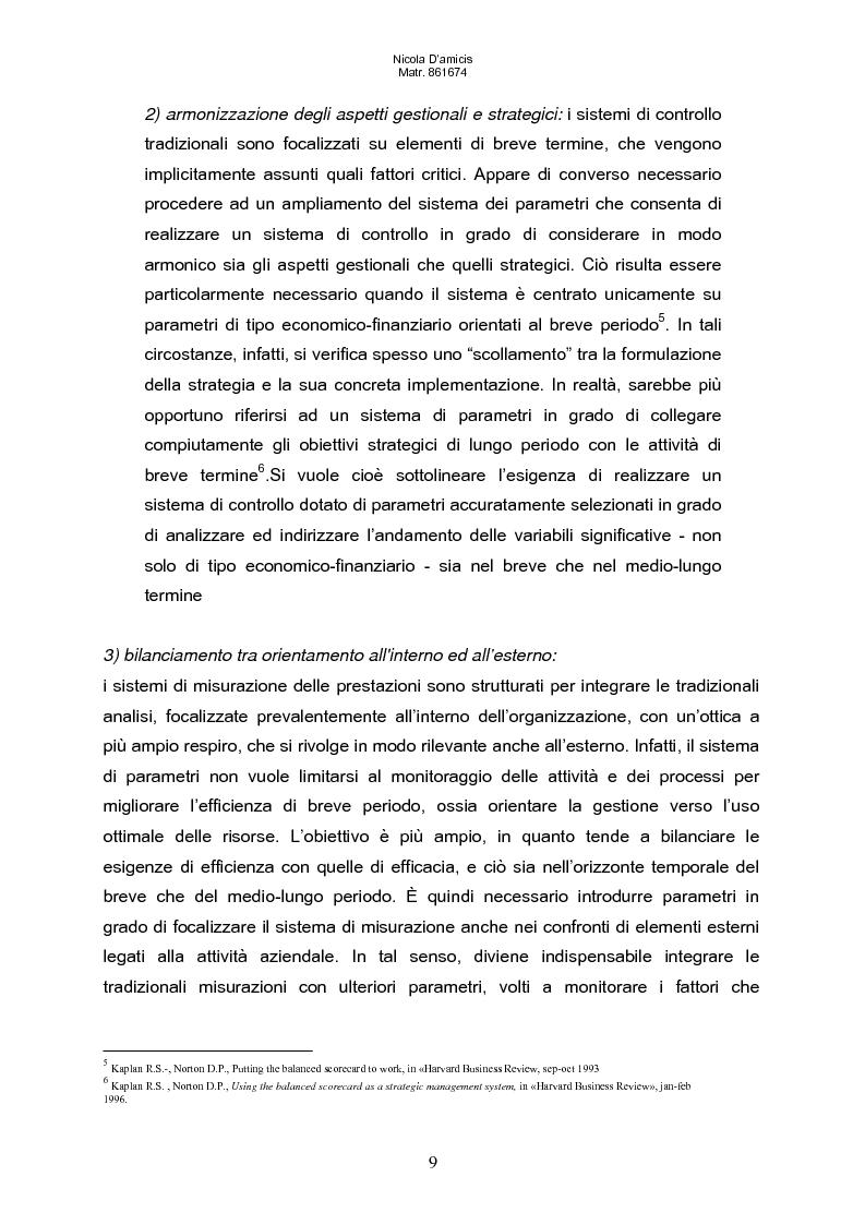 Anteprima della tesi: Balanced scorecard e valutazione delle prestazioni aziendali: impatto sul sistema di incentivazione e responsabilizzazione, Pagina 6