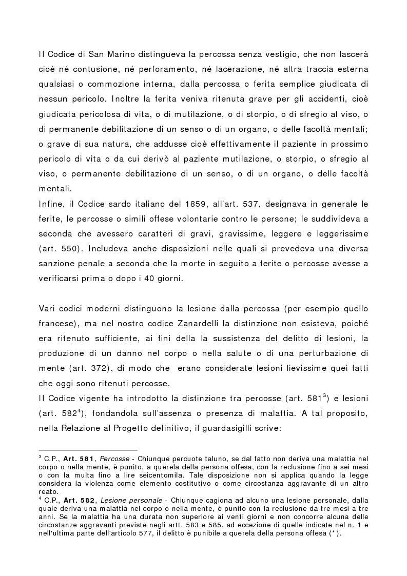Anteprima della tesi: L'indebolimento permanente di un senso o di un organo nelle lesioni personali, Pagina 10
