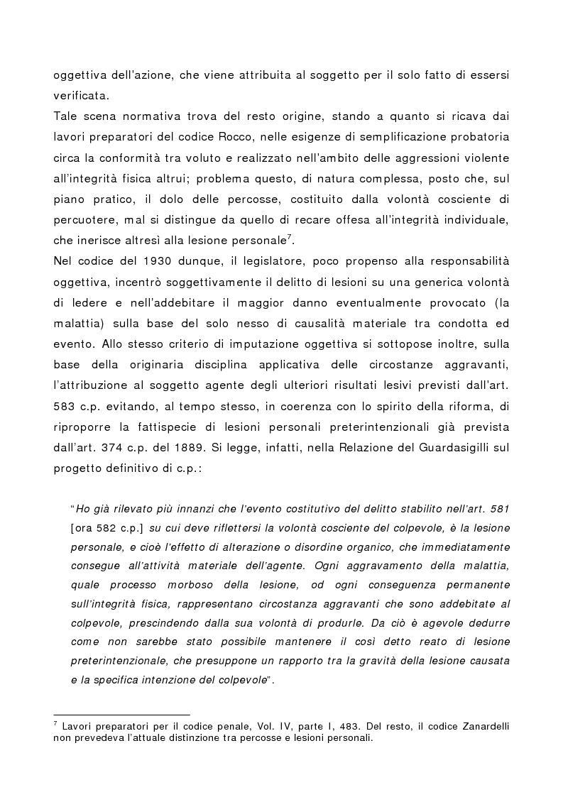 Anteprima della tesi: L'indebolimento permanente di un senso o di un organo nelle lesioni personali, Pagina 14