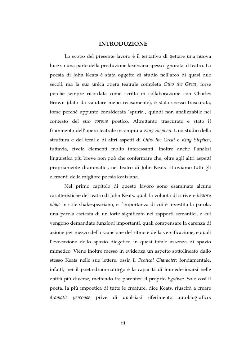 Anteprima della tesi: Il Teatro di John Keats, Pagina 1