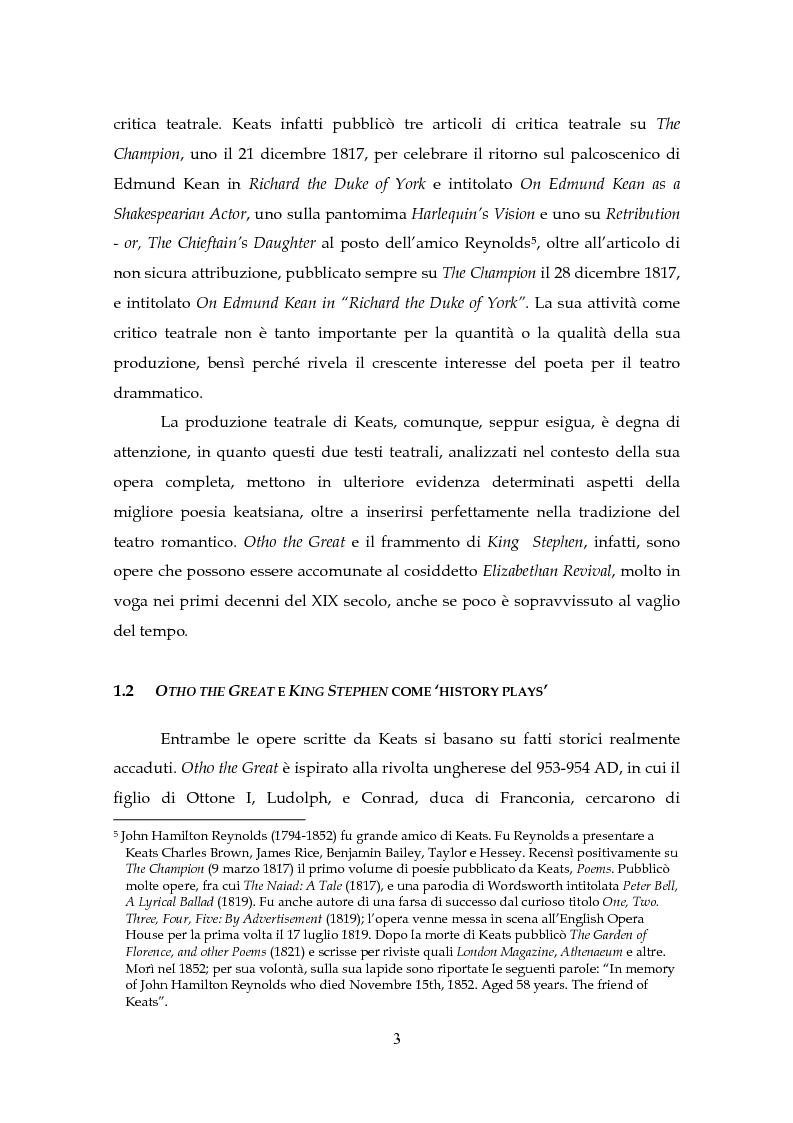 Anteprima della tesi: Il Teatro di John Keats, Pagina 6