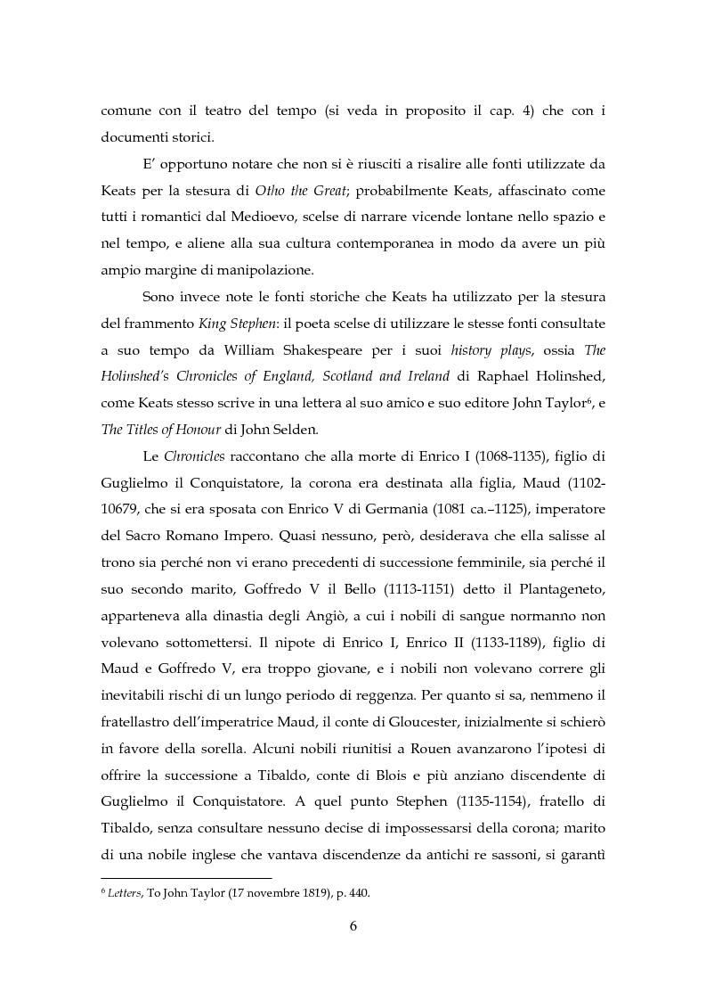Anteprima della tesi: Il Teatro di John Keats, Pagina 9