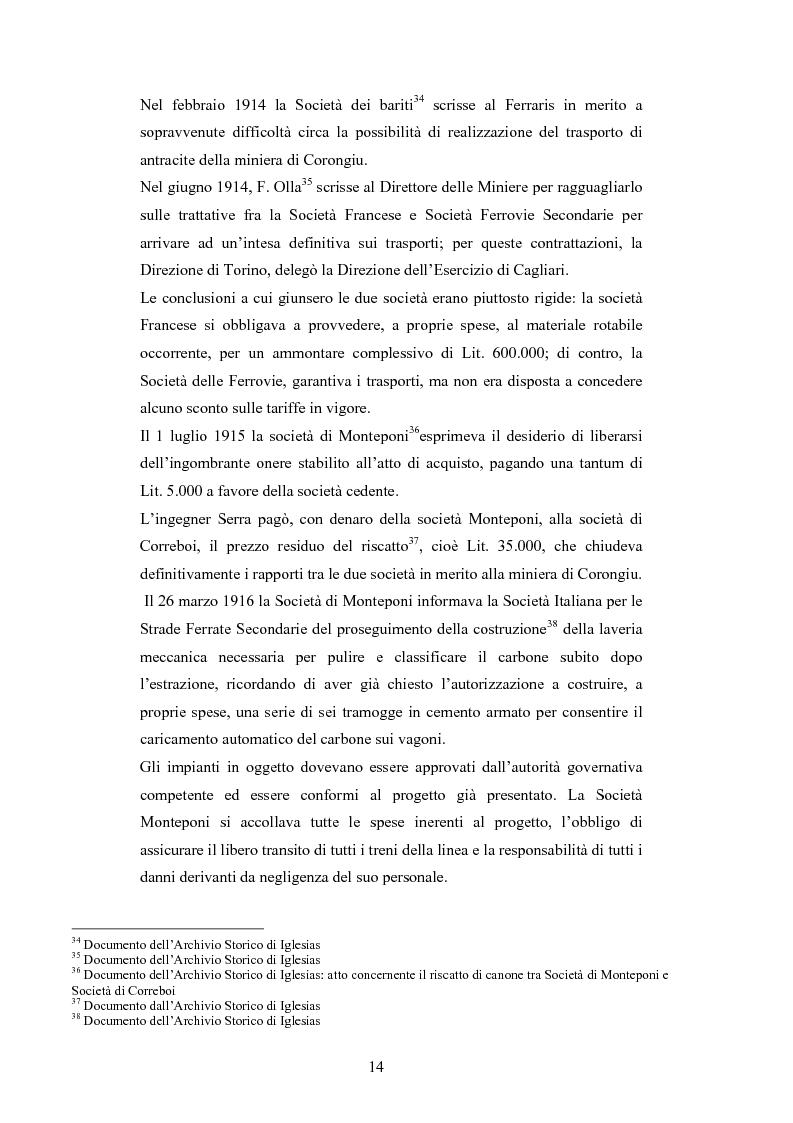 Anteprima della tesi: Storia e storia operaia della miniera di Seui, Pagina 14