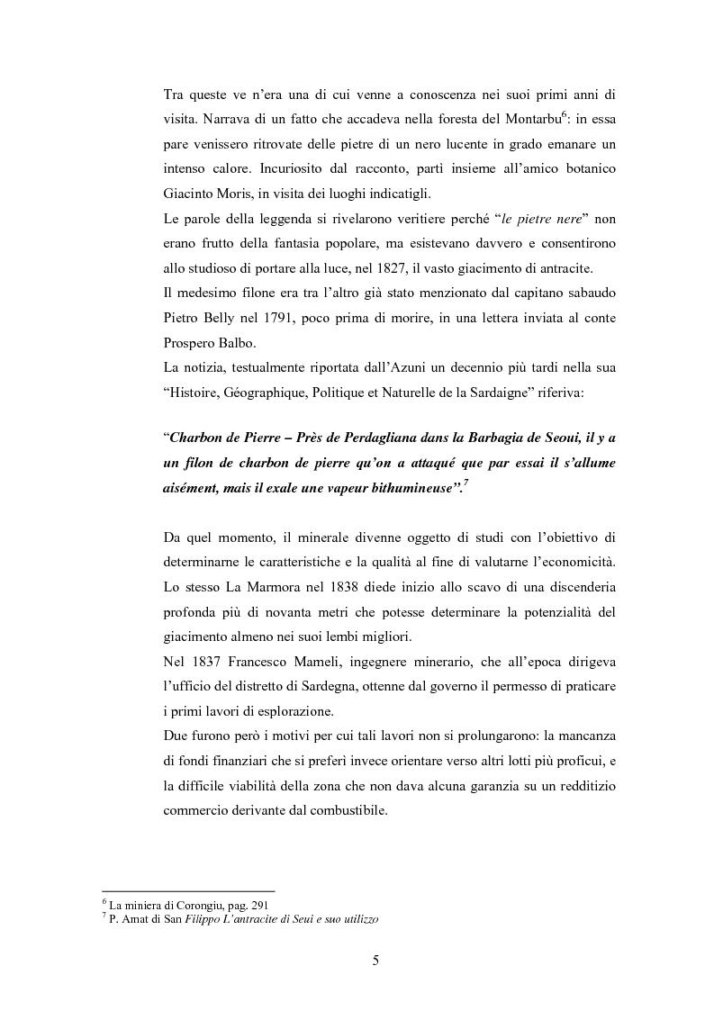 Anteprima della tesi: Storia e storia operaia della miniera di Seui, Pagina 5