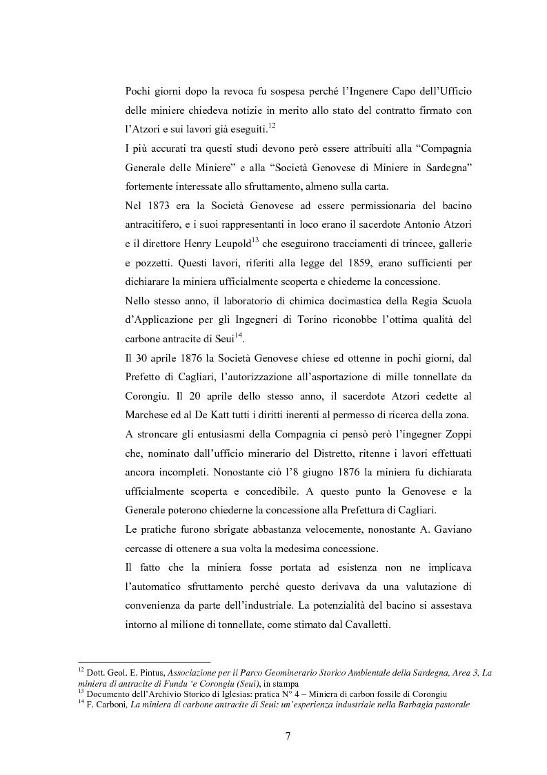 Anteprima della tesi: Storia e storia operaia della miniera di Seui, Pagina 7