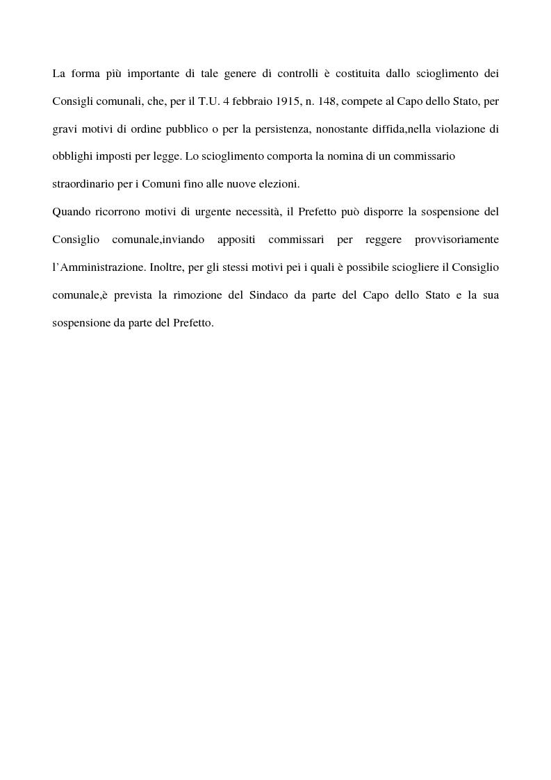 Anteprima della tesi: Il sistema dei controlli sui comuni, Pagina 10