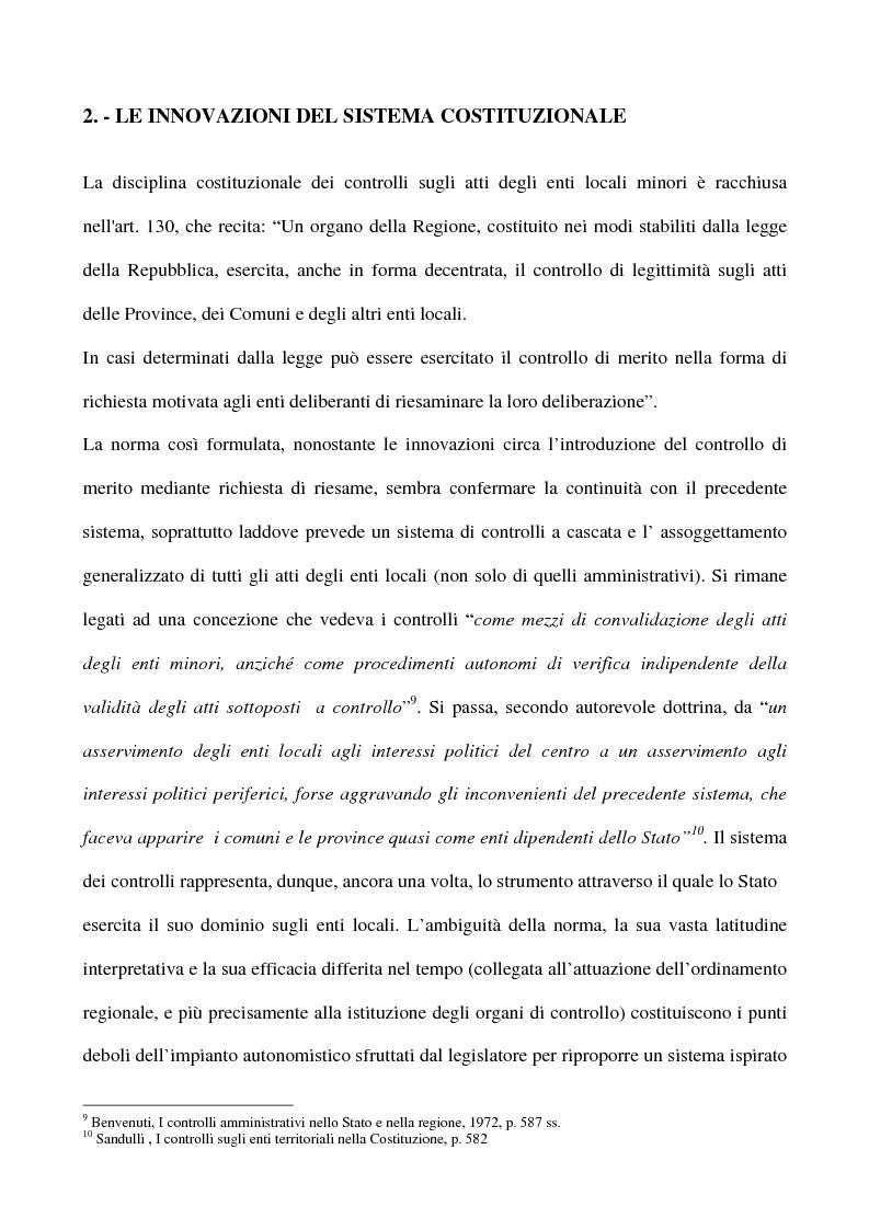 Anteprima della tesi: Il sistema dei controlli sui comuni, Pagina 11