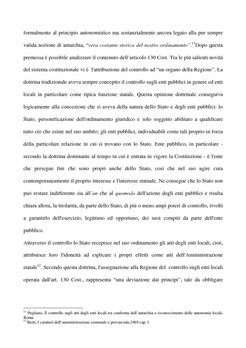 Anteprima della tesi: Il sistema dei controlli sui comuni, Pagina 12