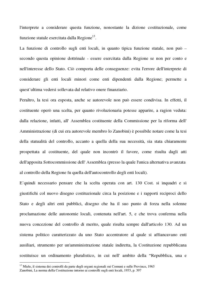 Anteprima della tesi: Il sistema dei controlli sui comuni, Pagina 13