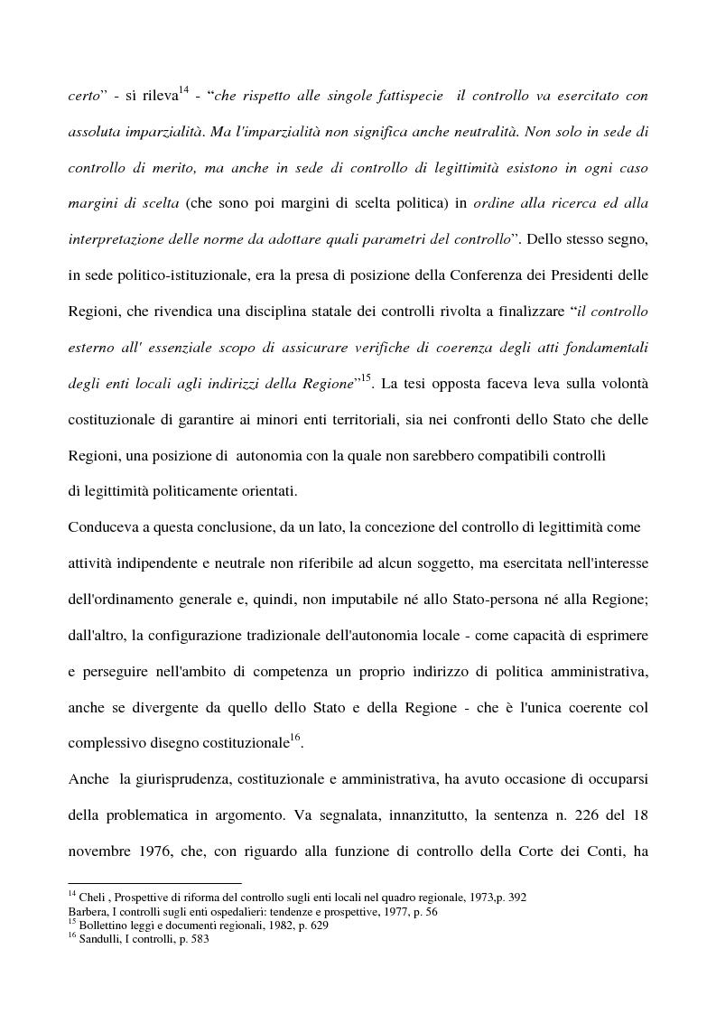 Anteprima della tesi: Il sistema dei controlli sui comuni, Pagina 15