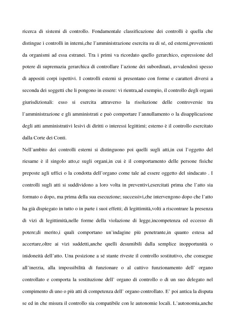 Anteprima della tesi: Il sistema dei controlli sui comuni, Pagina 2