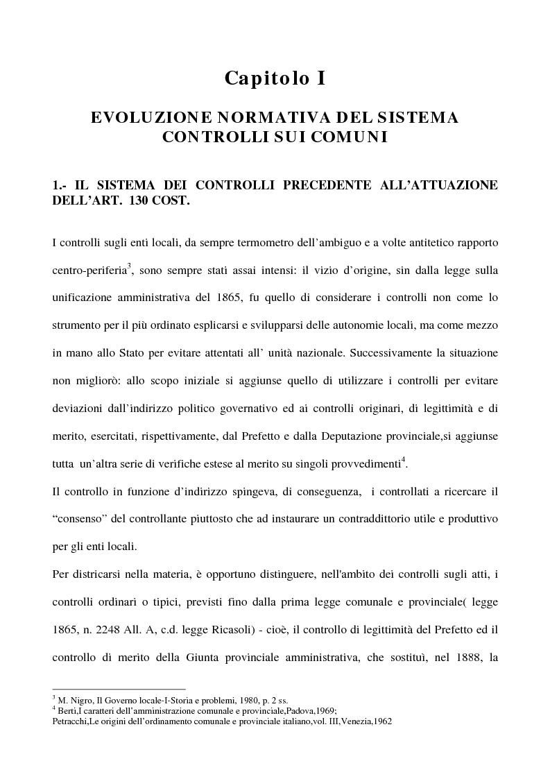 Anteprima della tesi: Il sistema dei controlli sui comuni, Pagina 5